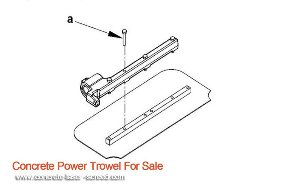 Installing-the-power-trowel-blades