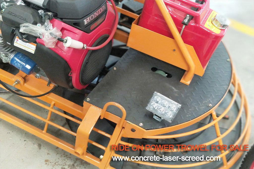 how to use ride on power trowel