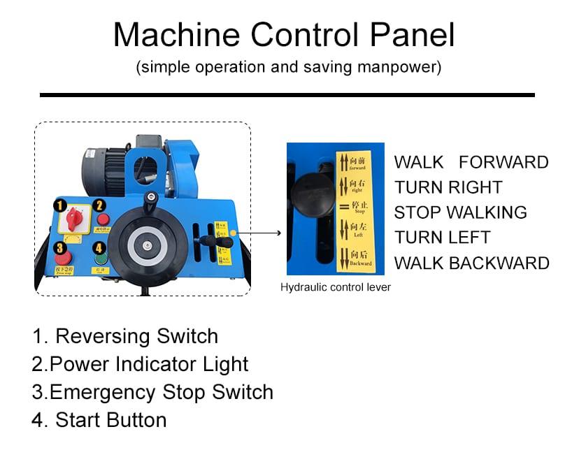 HKE300H Concrete Scarifier control panel